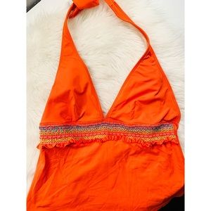 La Blanca Orange Tankini Slimming✨Size 10!